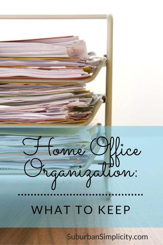 Home organization made simple. A useful guide for what paperwork and important documents to keep in your home office.