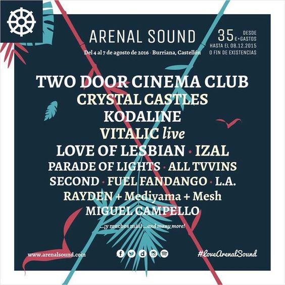 Nueva confirmación de @IZALmusic Esta vez en @ArenalSound #VisteMusica http://www.latiendadelosartistas.com/es/73-fabricantes-del-merchandising-oficial-de-izal: