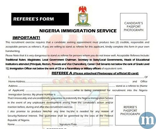 Nigeria Immigration Service Guarantor Form Download Pdf 2020 In