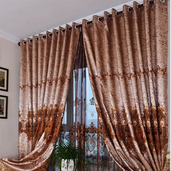 New Arrival Europe Style Hollowing Embroidered Customize Home Cloth Curtain Voile Curtain $47.29