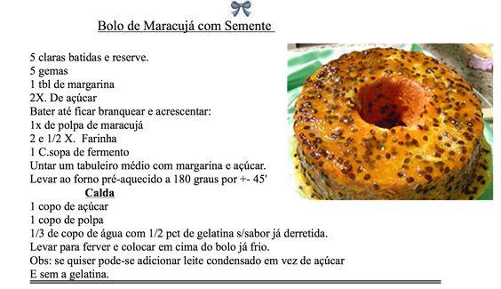 Bolo de Maracujá com semente