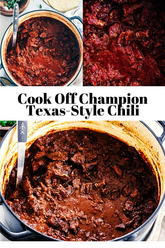 Cook Off Champion Texas-Style Chili