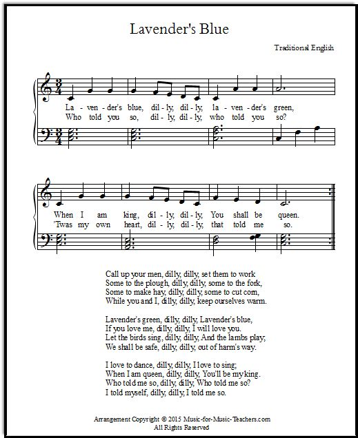 Cinderella Song Lyrics And Sheet Music For The Lavender's