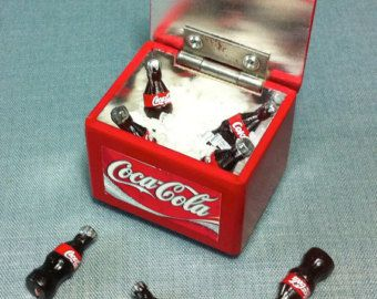 Drinks Tray Display Refreshment Soda Bottle Cute Little Tiny Small ...