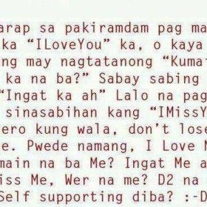 love quotes tagalog patama sa crush secret pinterest