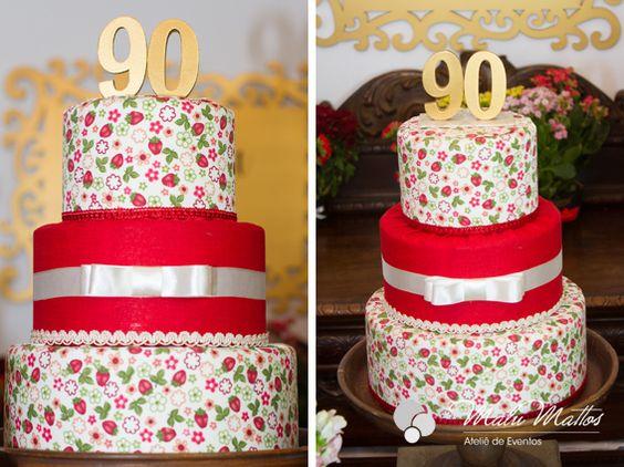 #bolo #tecido # floral #90