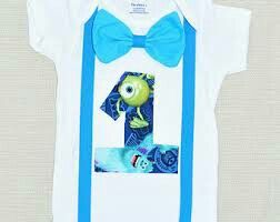 Such a cute onesie for any birthday boy and any theme