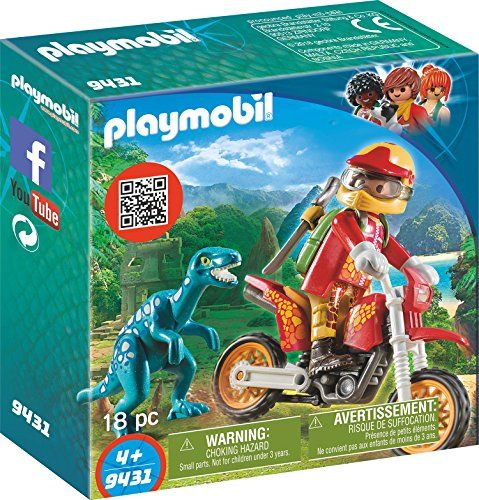 PLAYMOBIL The Explorers Airboat Dinosaur Raptor Building Set Figure Toys Playset