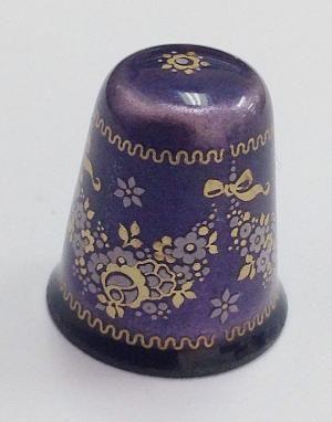 Vintage Estate Plum Purple and Gold Enamel Floral Austrian Thimble | eBay by jeanine