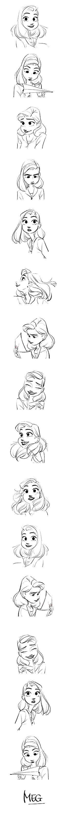 """Meg (Paperman)"" Expressions  