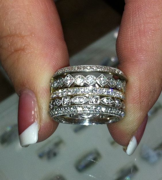 stackable rings--I want one of these as my push present for each kid w their name and bday inscribed on it.