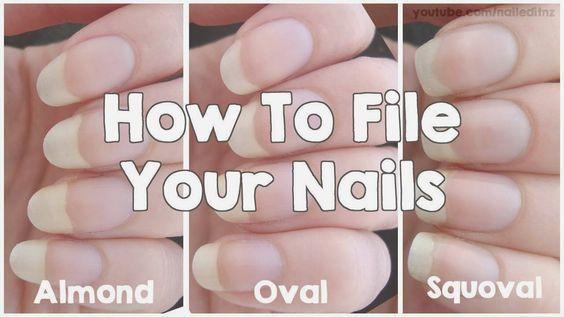 Nailed It Nz How To File Your Nails Almond Oval Squoval Acrylicnailsdesigns Squoval Nails Nail Shapes Squoval Almond Nails