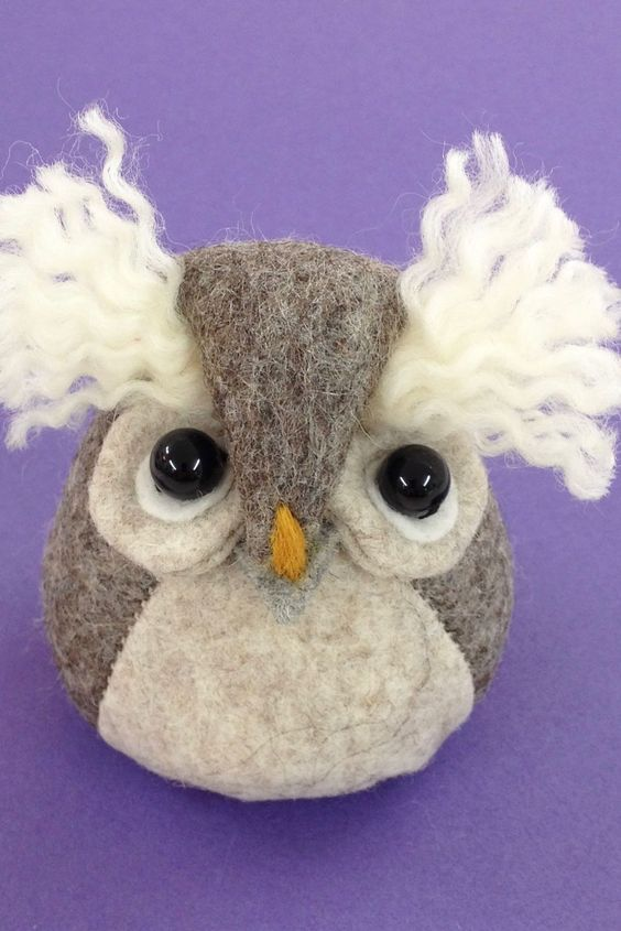 Bilberry Woods character Ollie the Owl as a cute felt paperweight.