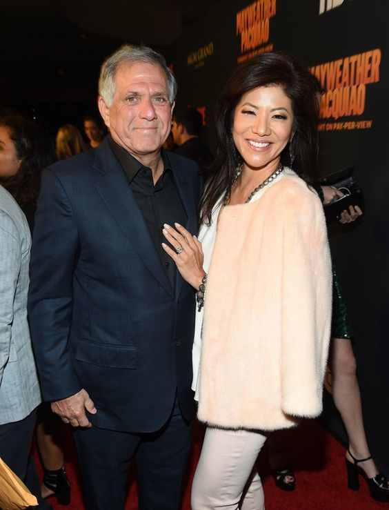 Pin for Later: Stars Totally Stole Mayweather and Pacquiao's Spotlight Leslie Moonves and Julie Chen