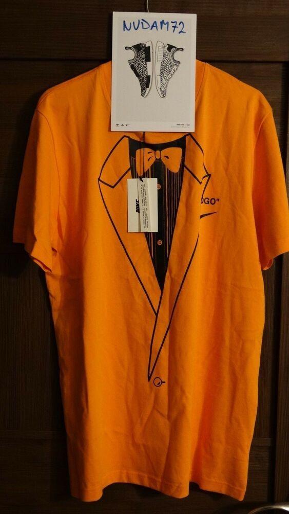 Alérgico ecuación cruzar  OFF-WHITE x Nike NRG A6 Tee Orange M #fashion #clothing #shoes #accessories  #mensclothing #shirts (ebay link) | Tees, Shirts, Off white