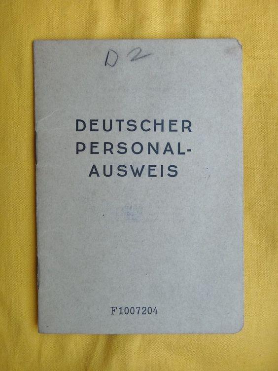 alter Deutscher Personalausweis Berlin 1949, sehr selten !!!!!