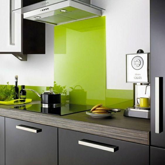 glas küchenrückwand spritzschutz küche glaswand grün wohnen - spritzschutz küche glas