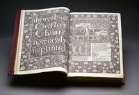 Book, 19th c: William Morris (24 March 1834 – 3 October 1896), an English textile designer, artist, writer, and libertarian socialist associated with the English Arts and Crafts Movement, was born.   http://artoncampus.rit.edu/art/233/