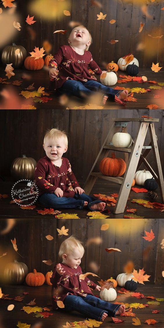 Идеи для осенней фотосессии малыша | Впервые мама - first-time-mama.ru