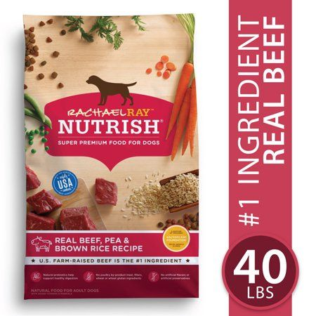 Rachael Ray Nutrish Natural Dry Dog Food Real Beef Pea Brown