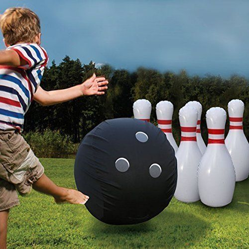 Giant Bowling Set Kids Family Game Huge Indoor Outdoor Yard Lawn Game Kit Toy Giantbow Backyard Games Kids Carnival Games For Kids Outdoor Activities For Kids