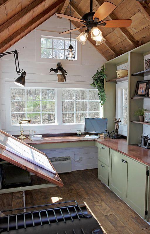 Home Art Studio Design tiny office - free range tiny homes …   pinteres…