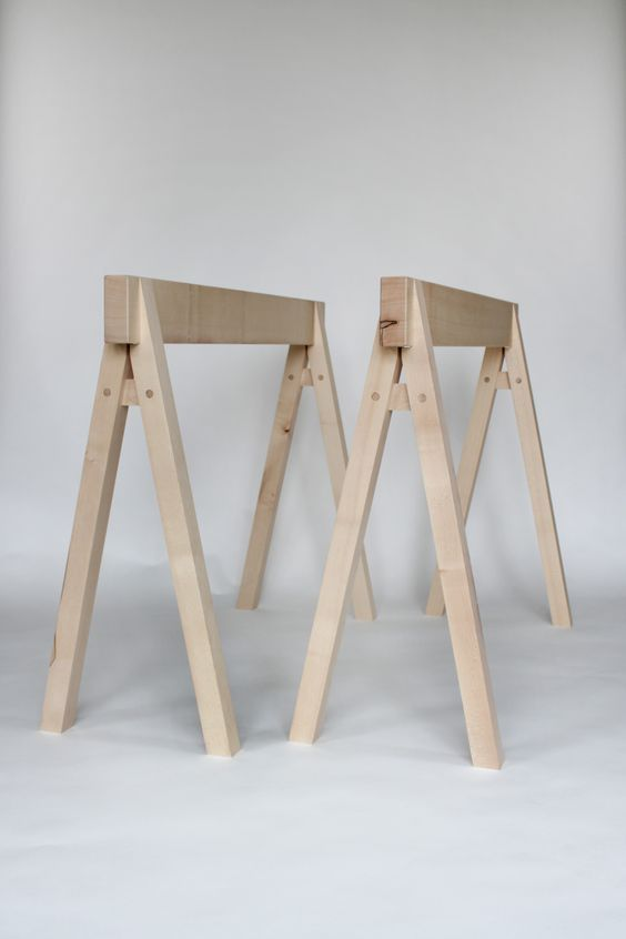 Sebastian cox sycamore trestle muebles pinterest Sawhorse desk legs