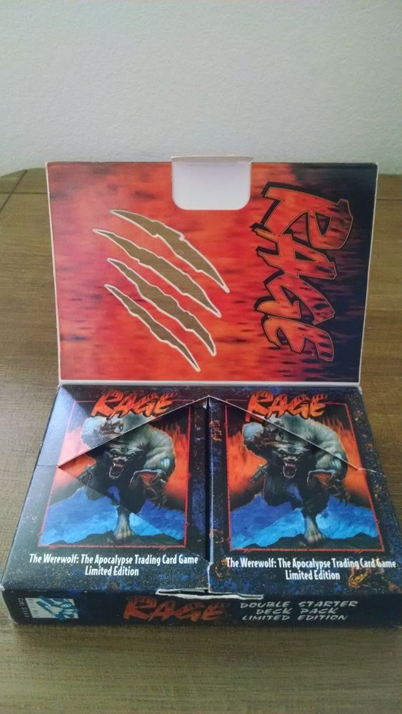 Rage Werewolf The Apocalypse Limited Edition Trading Card Game Double Starter…