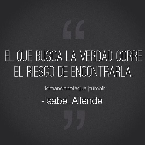 two words isabel allende Short story by isabel allende two words she went by the name of belisa crepusculario, not because she had been baptized with that name or given it by her mother, but.