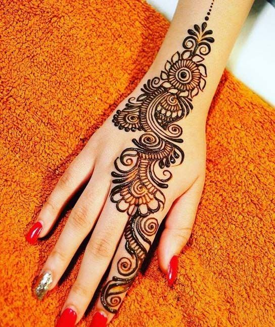 mehandi design arabic back hand side