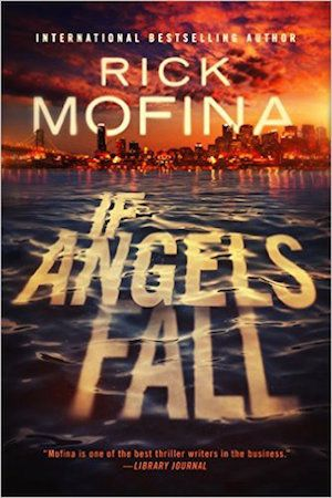 "e-Book Cover Design Award Winner for August 2015 in Fiction | If Angels Fall designed by James T. Egan of Bookfly Design. | JF: Compare the design mastery here with the many ""get-a-photo-and-slap-some-type-on-it"" covers submitted this month. Dramatic, with great intimations of the story to be found within, the purposeful focus that leads us to the action in the background, and a title treatment that integrates completely with the art. I feel like I'm floating into a city on fire..."