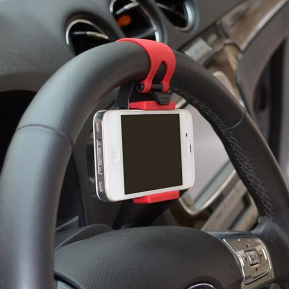 Universal Car Steering Wheel GPS Holder -  Welfmshop.com
