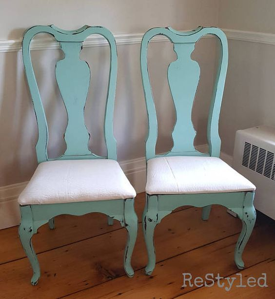 Available Teal Dining Chairs Shabby French Provincial Rustic