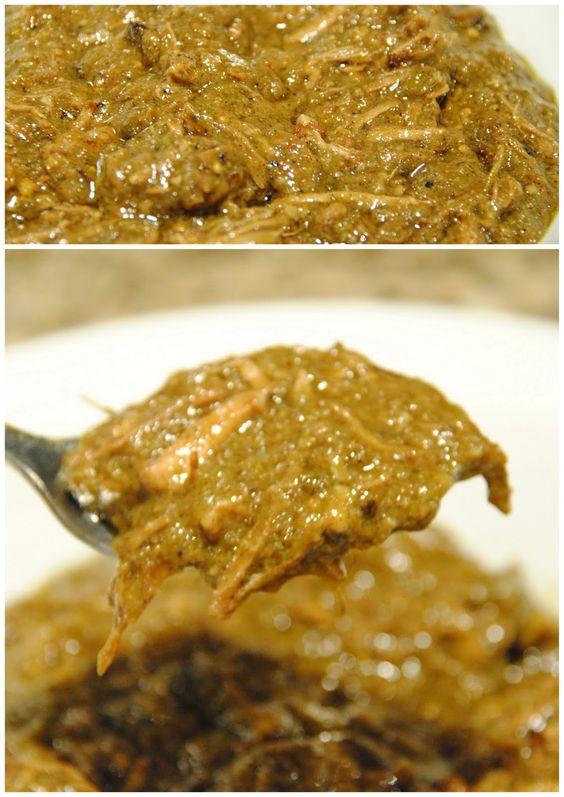 New Mexican green chili con carne - award winning