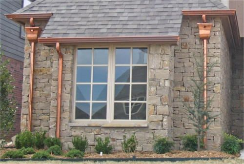 Faux Copper Gutters And Tips To Bring That Look To Your Home With Images Copper Gutters Gutters Downspout