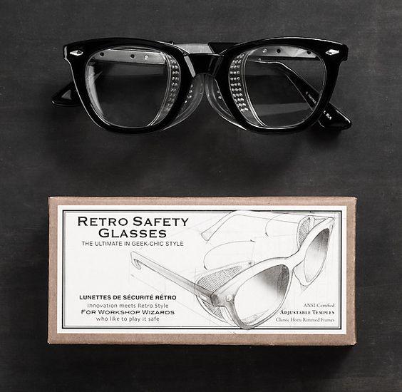 Vintage Eyeglass Frame Restoration : So stylish to give or get! Retro Safety Glasses Stocking ...