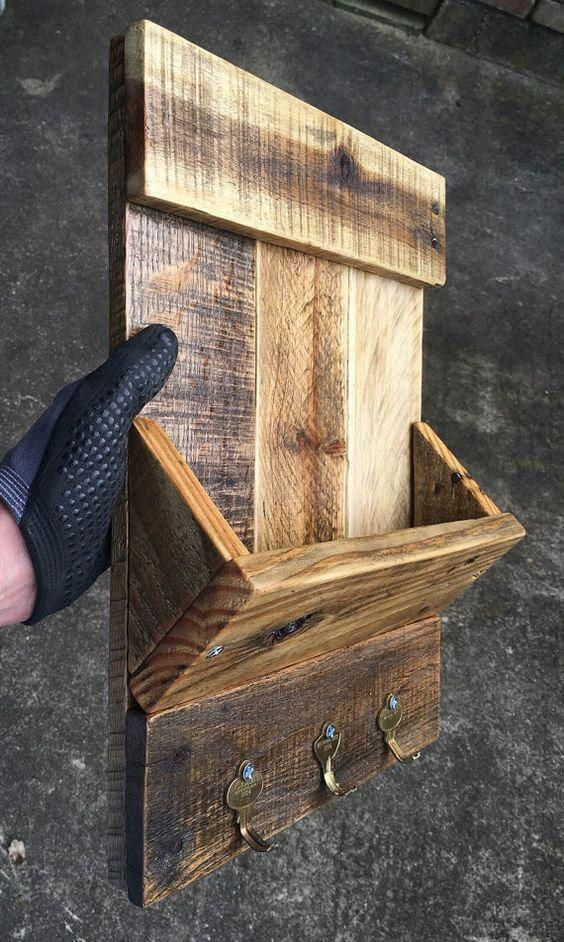 Small Reclaimed Wood Serving Tray With Rope Handles Espresso