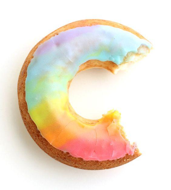 Tie-Dye Rainbow Donuts - Eugenie Kitchen: