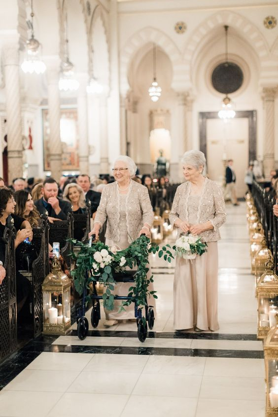Grandmothers as Flower-girls | New Orleans Wedding at the Roosevelt Hotel | Tasha Rae Creel | The Roosevelt Wink Designs and Events Bella Blooms Floral