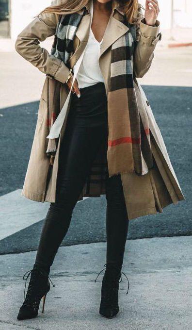 #winter #fashion / pattern print scarf + camel coat:
