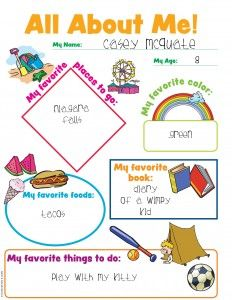 math worksheet : all about me! great for sunday school class! super for beginning  : All About Me Worksheet For Kindergarten