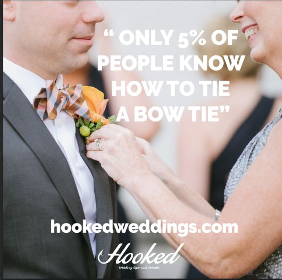 Do you know how to tie a #bowtie? Find out via our video in this week's episode of #HookedWeddings