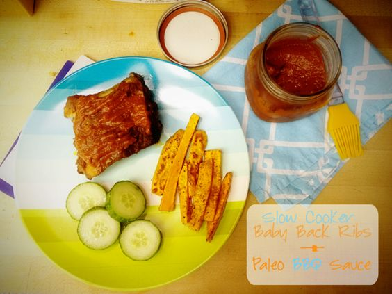 slow cooker baby back ribs + #paleo bbq sauce