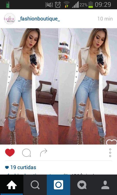 Calça jeans com um bom rasgado não é jeans amooo ♥