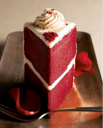 Delicious moist and homemade red velvet cake is a perfect food to share with that special loved one. Red velvet cakes have been very popular since the 18th century. The red color portrays the color of love. Here is a simple moist red velvet cake recipe that you can make at home for your loved one.