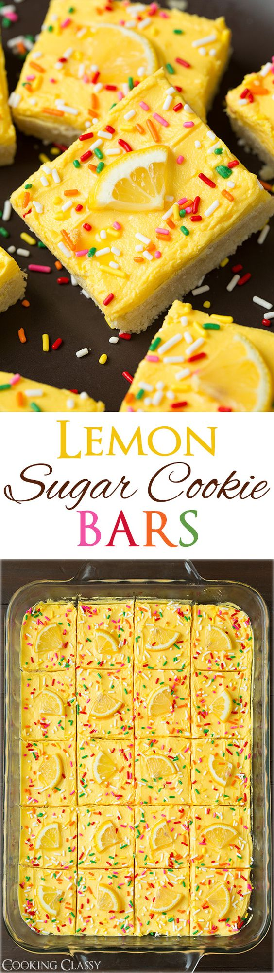 Lemon Sugar Cookie Dessert Bars Recipe via Cooking Classy - these are one of the BEST summer treats! They are so lemony and refreshing and they are as soft as lofthouse cookies. #dessertbars #cookiebars #barsrecipes #dessertforacrowd #partydesserts #christmasdesserts #holidaydesserts #onepandesserts