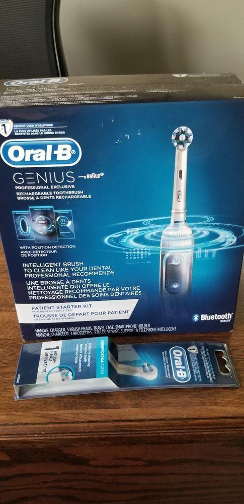 Oral B Braun Genius Bluetooth Smart Electric Toothbrush Starter Kit Extra Head Oralb Oral B Electric Toothbrush Oral B Braun