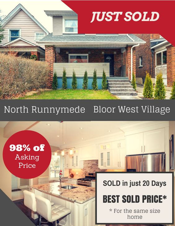 #SOLD 98% of Asking Price in Just 20 Days - The Best Sold Price in North #Runnymede   - Bloor West Village, #Toronto, #Ontario!