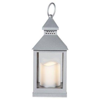 Lanterne LED argentée - Photophore / Bougeoir - Objet de déco - Décoration | GiFi