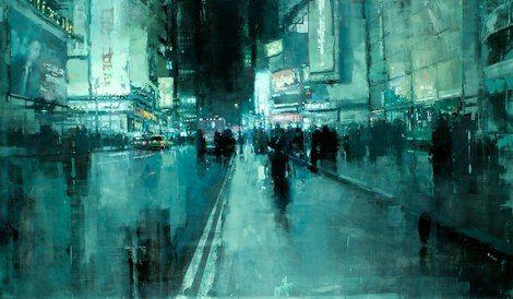 jeremy mann, 7th Avenue, Night on ArtStack #jeremy-mann #art